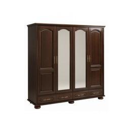 Dulap 4 usi BERRY nuc in stil Clasic,din PAL furniruit si lemn masiv,culoare Wenge - stejar