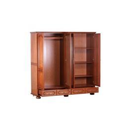Dulap 4 usi Berry in stil Clasic,din PAL furniruit si lemn masiv,culoare Natur-stejar
