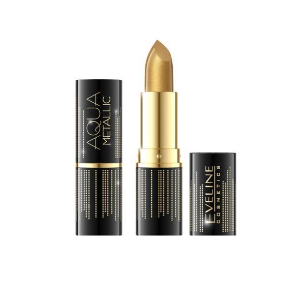 Ruj de buze Eveline Cosmetics Aqua Metallic 15g, nuanta 801 poza