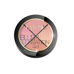 Paleta blush Eveline Cosmetics Blush Contour Sensation 4 in 1, 12 g