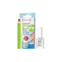 Tratament profesional pentru unghii 8 in 1, Eveline Cosmetics, Sensitive 12ml