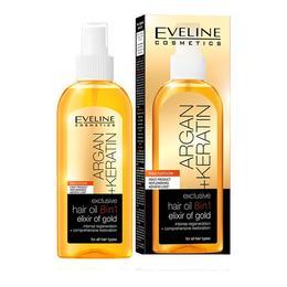Ulei de par, Eveline Cosmetics, 8 in 1 Argan + Keratina, Elixir of Gold, 150 ml de la esteto.ro