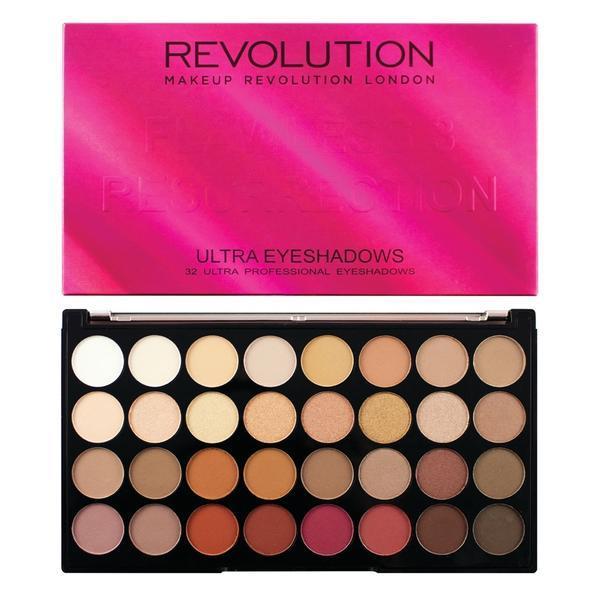 Paleta fard de pleoape Makeup Revolution Ultra Eyeshadow, Flawless 3 Resurrection, 32 nuante poza