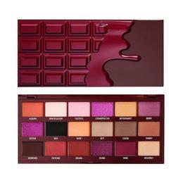 Paleta fard Makeup Revolution, I Heart Revolution, Cranberries and Chocolate Pigment Palette, 18 nuante, 18g de la esteto.ro