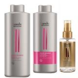 Pachet pentru Par Vopsit Londa Professional Color Radiance - Sampon, Tratament stabilizator pigment si Ulei Hidratare