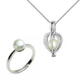 Set Perla Surpriza cu Inel Perle Naturale Albe - Cadouri si Perle