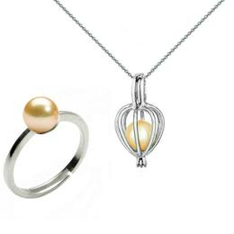 Set Perla Surpriza cu Inel Perle Naturale Crem - Cadouri si Perle