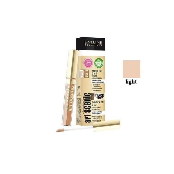 Corector lichid Eveline Cosmetics 2 in 1 corector si iluminator nuanta 04 Light imagine produs