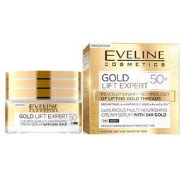 Crema luxurianta de intinerire Eveline Cosmetics Gold Lift Expert cu aur de 24K 50+ 50ml de la esteto.ro