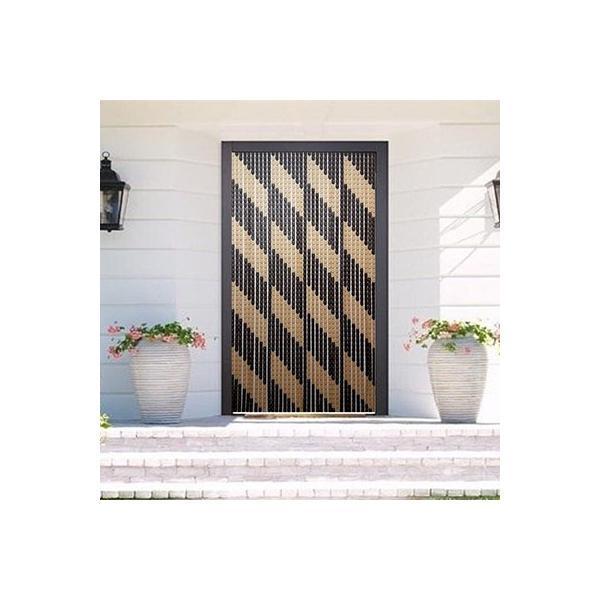Perdea pentru usa model Dungi diagonale intrerupte – Cristiana Plast