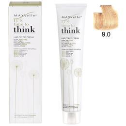 Vopsea de Par fara Amoniac cu Ulei de Argan – Maxxelle Think Hair Color Cream Ammonia-Free, nuanta 9.0 Very Light Blonde de la esteto.ro