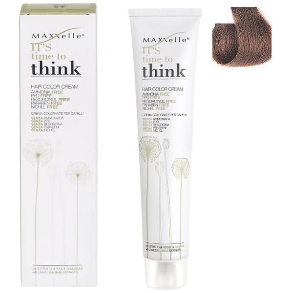 Vopsea de Par fara Amoniac cu Ulei de Argan - Maxxelle Think Hair Color Cream Ammonia-Free, nuanta 6.3 Dark Blonde Golden