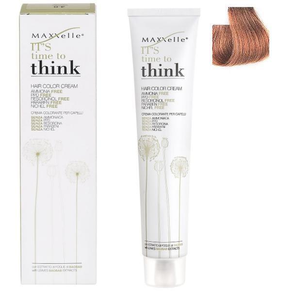Vopsea de Par fara Amoniac cu Ulei de Argan - Maxxelle Think Hair Color Cream Ammonia-Free, nuanta 7.3 Blonde Golden
