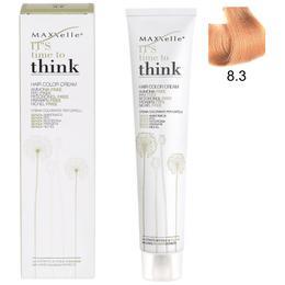 Vopsea de Par fara Amoniac cu Ulei de Argan – Maxxelle Think Hair Color Cream Ammonia-Free, nuanta 8.3 Light Blonde Golden de la esteto.ro
