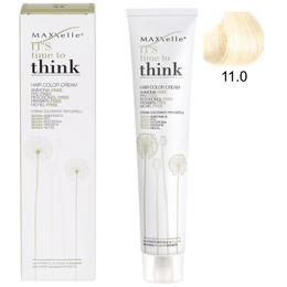 Vopsea de Par fara Amoniac cu Ulei de Argan – Maxxelle Think Hair Color Cream Ammonia-Free, nuanta 11.0 Ultra Platinum Blonde de la esteto.ro
