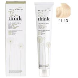 Vopsea de Par fara Amoniac cu Ulei de Argan – Maxxelle Think Hair Color Cream Ammonia-Free, nuanta 11.13 Ultra Light Beige Blonde de la esteto.ro