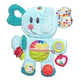 Salteluta de joaca portabila Playskool, Elefant albastru - Hasbro