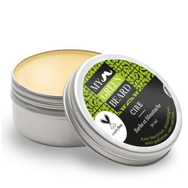 Ceara hidratanta pentru barba si mustata, Hydrating Wax Beard Moustache, My Green Beard 50ml imagine produs