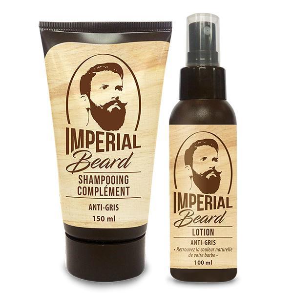 Set refacere culoare naturala barba grizonata Anti Gris Barbe, Imperial Beard (sampon 150ml + lotiune 100 ml ) esteto.ro