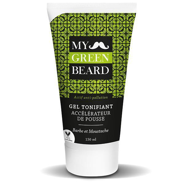 Gel revigorant pentru accelerarea cresterii barbii si mustatei, Beard Growth Accelerator Invigorating Gel, My Green Beard 150ml