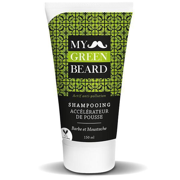 Sampon pentru accelerarea cresterii barbii si mustatei, Beard Growth Accelerator Shampoo, My Green Beard 150ml