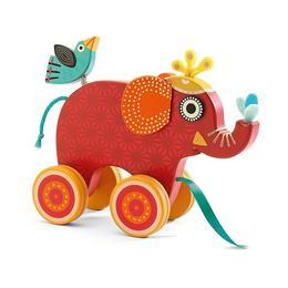 Jucărie de tras elefantul indy - Djeco