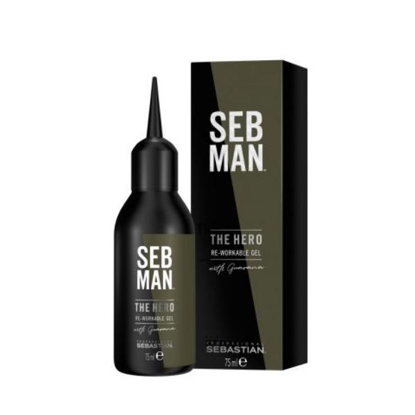 Gel remodelabil pentru barbati Sebastian Professional SEB Man The Hero Re-Workable Gel, 75 ml