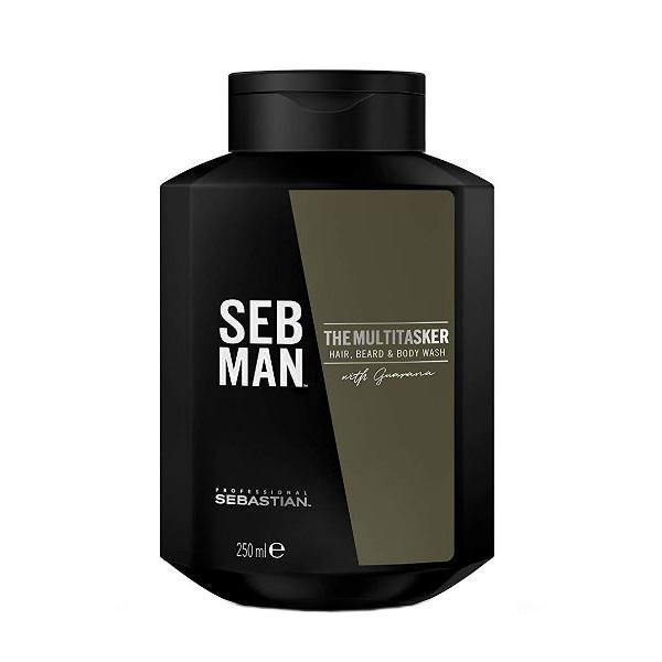 Sampon 3in1 pentru barbati Sebastian Professional SEB Man The Multitasker Hair, Beard & Body Wash, 250 ml imagine produs