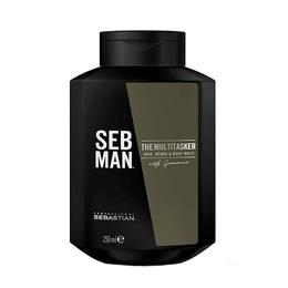 Sampon 3in1 pentru barbati Sebastian Professional SEB Man The Multitasker Hair, Beard & Body