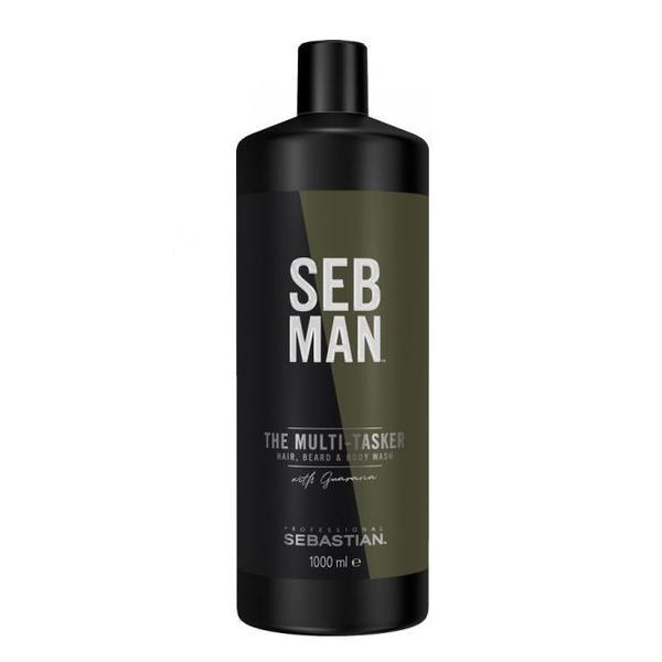Sampon 3in1 pentru barbati Sebastian Professional SEB Man The Multitasker Hair, Beard & Body Wash, 1000 ml imagine produs
