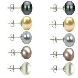 Set 5 Perechi Cercei Argint cu Perle Naturale de 10 mm - Cadouri si perle