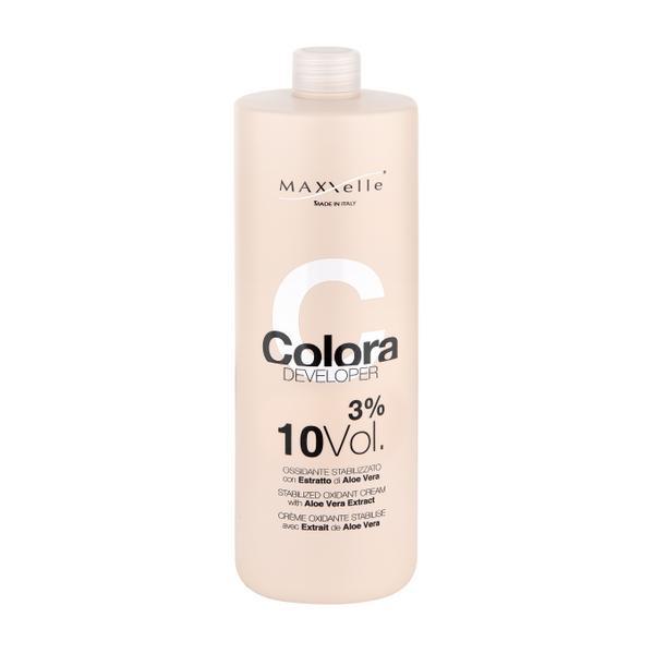 Oxidant cu Extract Organic de Aloe Vera - Maxxelle Colora Developer Stabilized Oxidant Cream with Aloe Vera Extract, 3% 10 Vol, 1000ml
