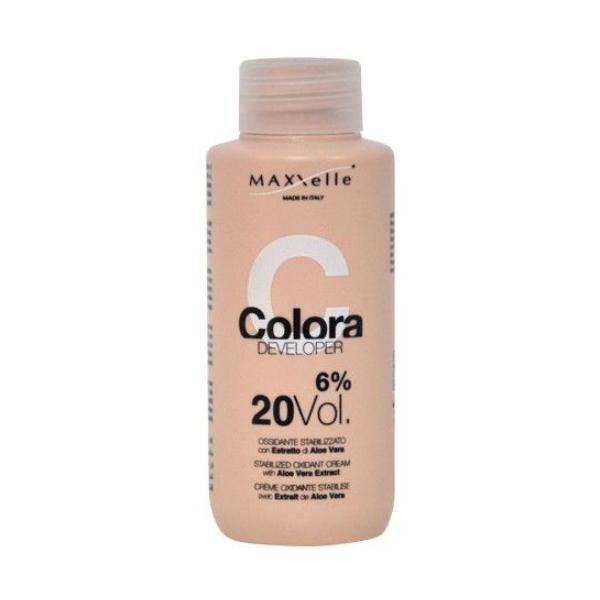 Oxidant cu Extract Organic de Aloe Vera - Maxxelle Colora Developer Stabilized Oxidant Cream with Aloe Vera Extract, 6% 20 Vol, 100ml poza