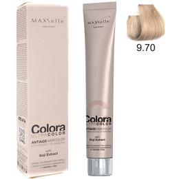 Vopsea Profesionala cu Extract de Goji – Maxxelle Colora Ultracolor Antiage Haircolor, nuanta 9.70 Very Light Blonde Beige de la esteto.ro