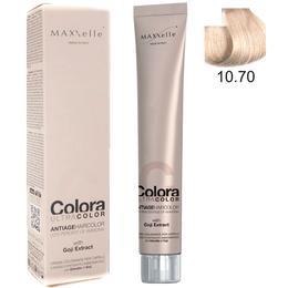 Vopsea Profesionala cu Extract de Goji – Maxxelle Colora Ultracolor Antiage Haircolor, nuanta 10.70 Beige Platinum Blonde de la esteto.ro