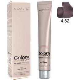 Vopsea Profesionala cu Extract de Goji – Maxxelle Colora Ultracolor Antiage Haircolor, nuanta 4.62 Irisee Chestnut Red de la esteto.ro