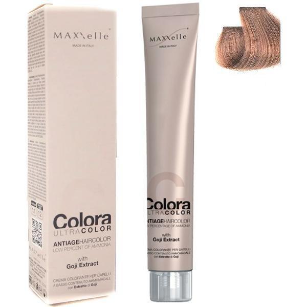 Vopsea Profesionala cu Extract de Goji - Maxxelle Colora Ultracolor Antiage Haircolor, nuanta 7.73 Hazelnut Blonde imagine produs