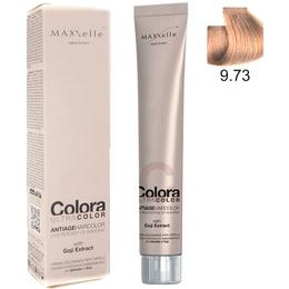 Vopsea Profesionala cu Extract de Goji – Maxxelle Colora Ultracolor Antiage Haircolor, nuanta 9.73 Hazelnut Very Light Blonde de la esteto.ro