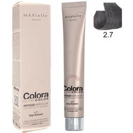 Vopsea Profesionala cu Extract de Goji – Maxxelle Colora Ultracolor Antiage Haircolor, nuanta 2.7 Chocolate Very Dark Brown de la esteto.ro