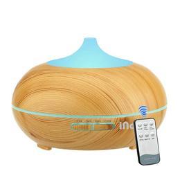 Difuzor Aromaterapie cu ultrasunete, Umidificator cu led si telecomanda, iNov 500 ml