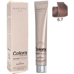 Vopsea Profesionala cu Extract de Goji – Maxxelle Colora Ultracolor Antiage Haircolor, nuanta 6.7 Chocolate Dark Blonde de la esteto.ro
