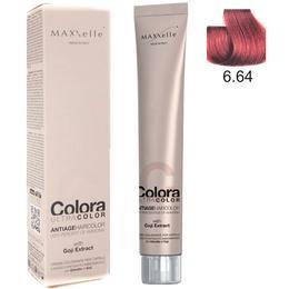 Vopsea Profesionala cu Extract de Goji – Maxxelle Colora Ultracolor Antiage Haircolor, nuanta 6.64 Copper Red Dark Blonde de la esteto.ro