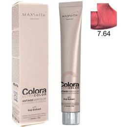 Vopsea Profesionala cu Extract de Goji – Maxxelle Colora Ultracolor Antiage Haircolor, nuanta 7.64 Copper Red Blonde de la esteto.ro