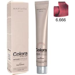 Vopsea Profesionala cu Extract de Goji – Maxxelle Colora Ultracolor Antiage Haircolor, nuanta 6.666 Intense Red Dark Blonde de la esteto.ro