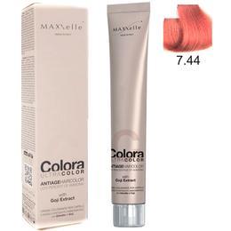 Vopsea Profesionala cu Extract de Goji – Maxxelle Colora Ultracolor Antiage Haircolor, nuanta 7.44 Intense Copper Blonde de la esteto.ro