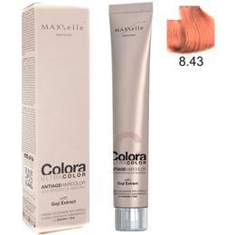 Vopsea Profesionala cu Extract de Goji – Maxxelle Colora Ultracolor Antiage Haircolor, nuanta 8.43 Warm Copper Light Blonde de la esteto.ro