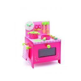 Mini bucătărie lemn roz - Djeco