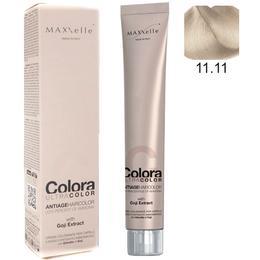 Vopsea Profesionala cu Extract de Goji – Maxxelle Colora Ultracolor Antiage Haircolor, nuanta 11.11 Super Platinum Ash Blonde de la esteto.ro