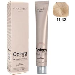 Vopsea Profesionala cu Extract de Goji - Maxxelle Colora Ultracolor Antiage Haircolor, nuanta 11.32 Warm Beige Super Platinum Very Light Blonde