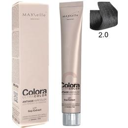 Vopsea Profesionala cu Extract de Goji - Maxxelle Colora Ultracolor Antiage Haircolor, nuanta 2.0 Very Dark Brown